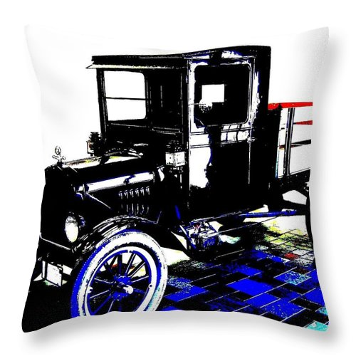 1926 Ford Model T Stakebed Throw Pillow featuring the digital art 1926 Ford Model T Stakebed by Will Borden