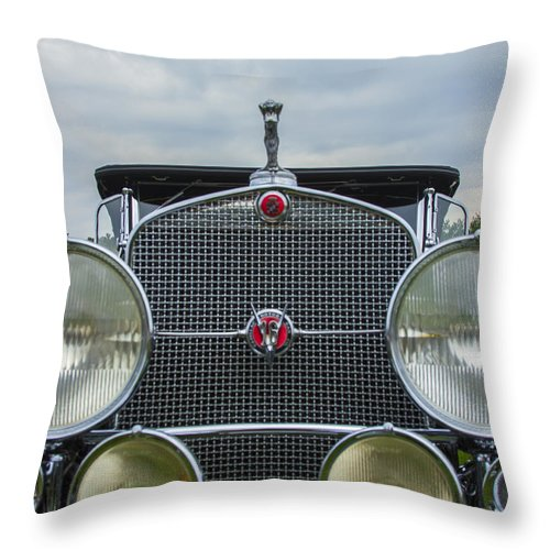 Antique Throw Pillow featuring the photograph 1930 Cadillac V-16 by Jack R Perry