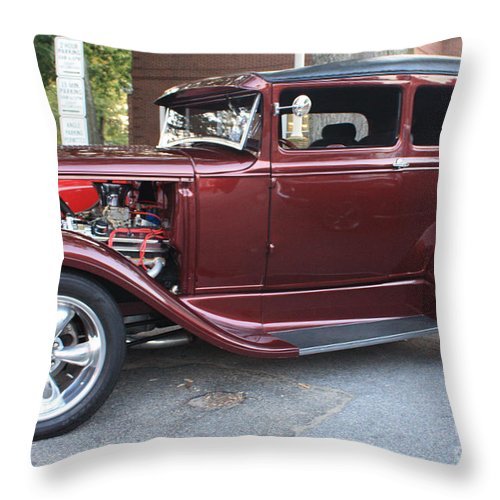 1930 Ford Two Door Sedan Side View Throw Pillow featuring the photograph 1930 Ford Two Door Sedan Side View by John Telfer