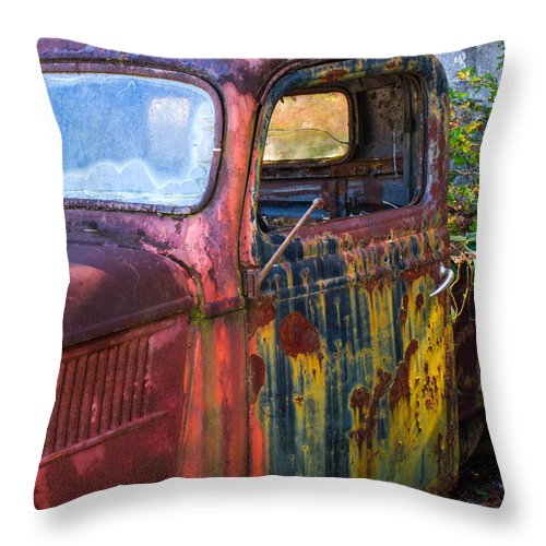 1930s Throw Pillow featuring the photograph 1930s Pickup Truck by Douglas Barnett