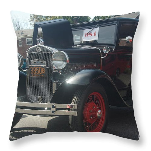 Beautiful Throw Pillow featuring the photograph 1931 Ford Sedan by Rob Luzier