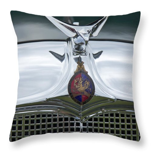 1934 Throw Pillow featuring the photograph 1934 Vauxhall by Jack R Perry