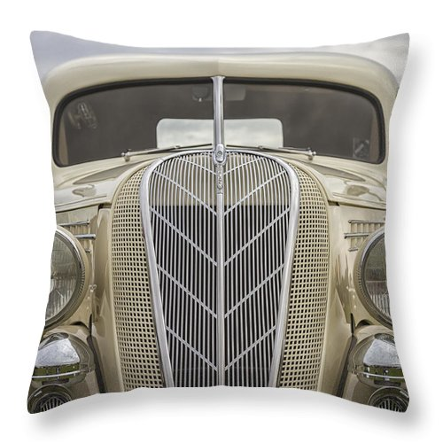 Antique Throw Pillow featuring the photograph 1936 Hudson Terraplane Truck by Jack R Perry