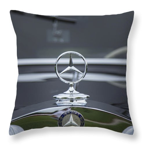 1937 Throw Pillow featuring the photograph 1937 Mercedes Benz by Jack R Perry