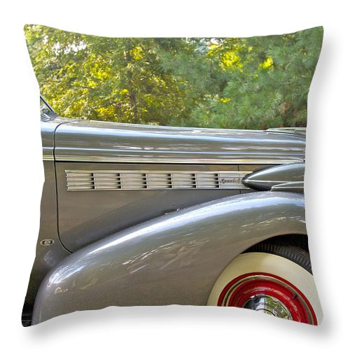 Antique Throw Pillow featuring the photograph 1938 Buick Special by Jack R Perry