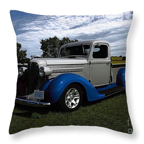 1938 Fargo Pickup Throw Pillow featuring the photograph 1938 Fargo by Joseph Marquis