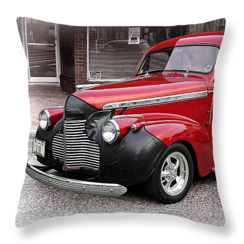 Transportation Throw Pillow featuring the photograph 1940 Chevy Coupe by Marcia Colelli