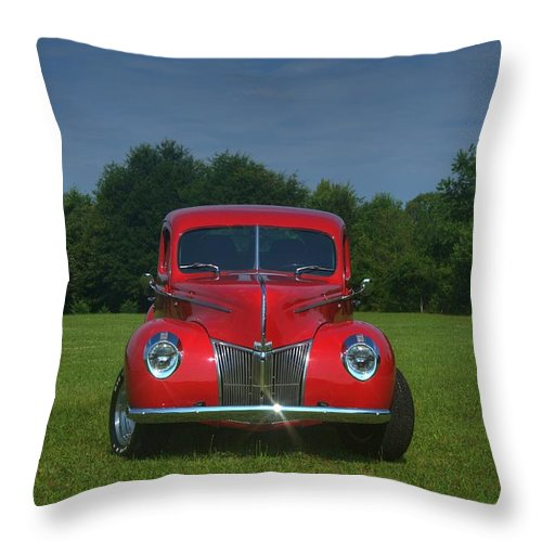 1940 Throw Pillow featuring the photograph 1940 Ford Deluxe by Sonja Dover