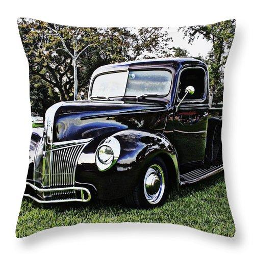 1941 Custom Ford Truck Throw Pillow