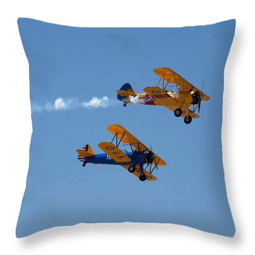 1943 Boeing B75n1 Throw Pillow featuring the photograph 1943 Boeing B75n1 by Richard J Cassato