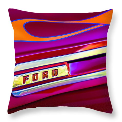 1948 Throw Pillow featuring the photograph 1948 Ford Pickup by Carol Leigh