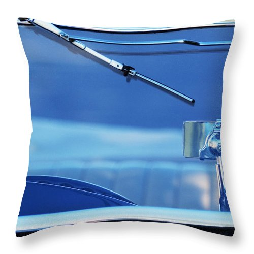 1948 Mg Tc Rear View Mirror Throw Pillow featuring the photograph 1948 Mg Tc Rear View Mirror by Jill Reger
