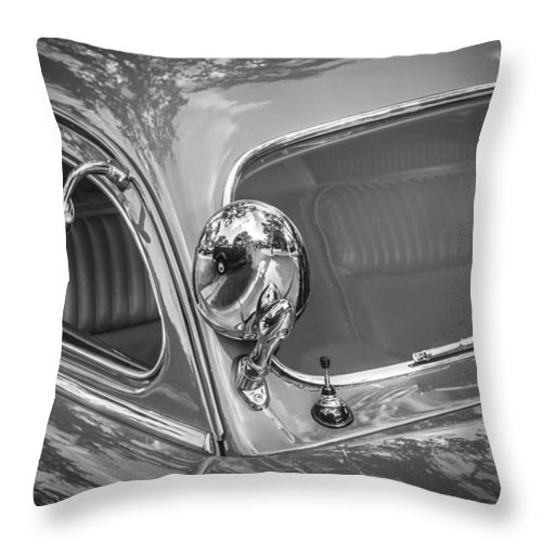 1949 Mercury Club Coupe Throw Pillow featuring the photograph 1949 Mercury Club Coupe Bw  by Rich Franco