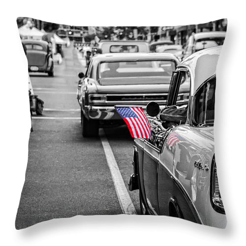 1956 Throw Pillow featuring the photograph 1956 Chevy by Koji Kanemoto