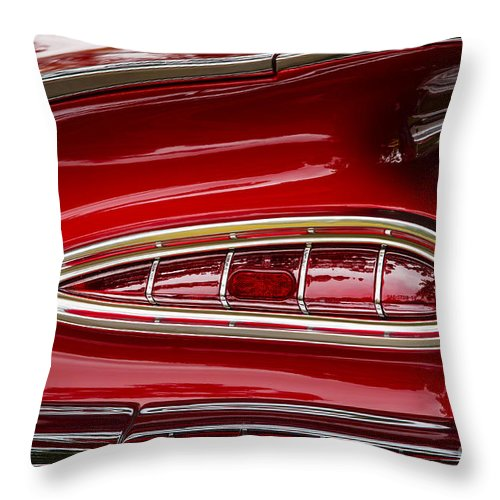 Chevrolet Throw Pillow featuring the photograph 1959 Chevrolet Taillight by Dennis Hedberg