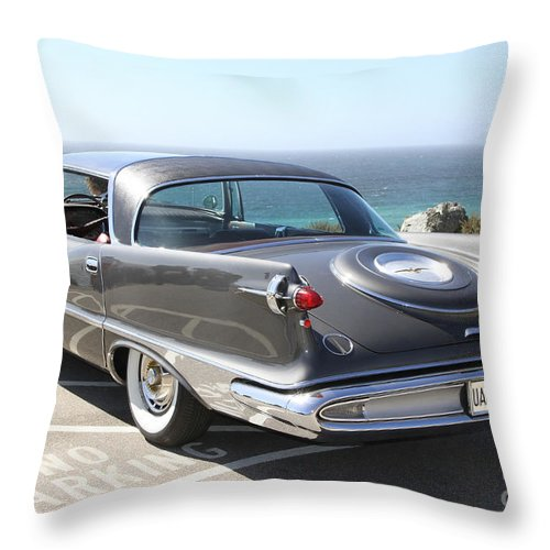 Chrysler Imperial Taillight Throw Pillow featuring the photograph 1959 Imperial Crown by Christiane Schulze Art And Photography