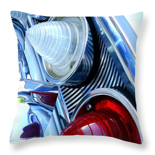 Joseph Skompski Throw Pillow featuring the photograph 1960 Chevrolet Impala by Joseph Skompski