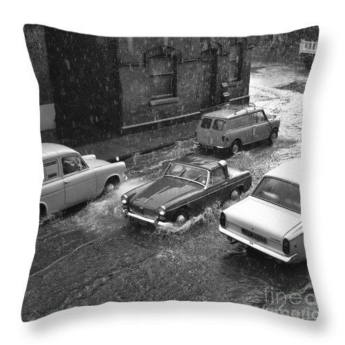 Hart Photography Throw Pillow featuring the photograph 1960's Classic Cars  Ref-252 by William R Hart