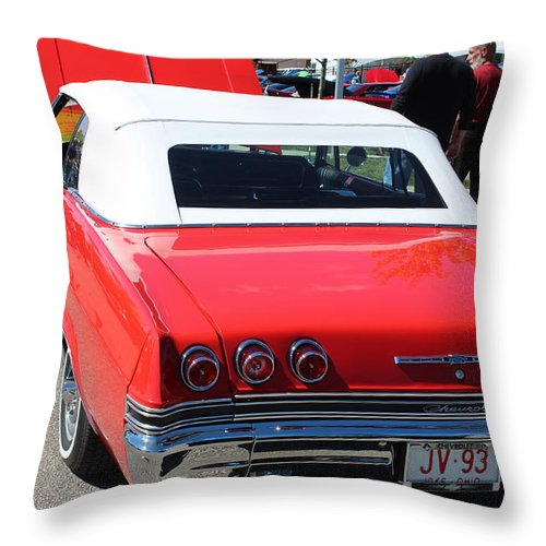Cars Throw Pillow featuring the photograph 1965 Chevrolet Impala by R A W M