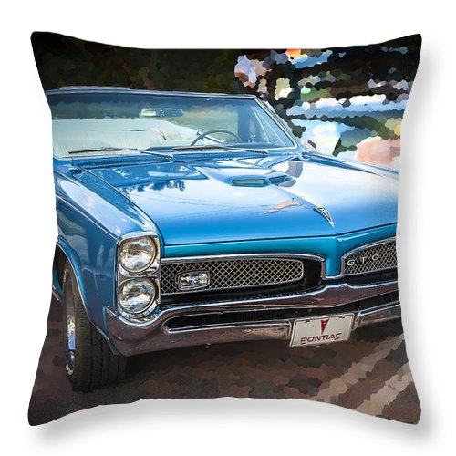 1967 Pontiac Gto Throw Pillow featuring the photograph 1967 Pontiac Gto by Rich Franco
