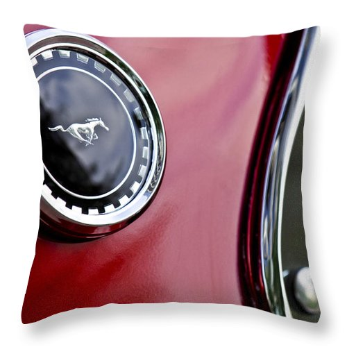 1969 Ford Mustang Throw Pillow featuring the photograph 1969 Ford Mustang Mach 1 by Jill Reger