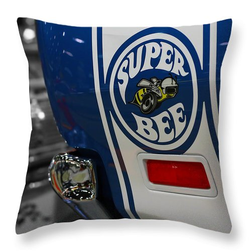 1970 Throw Pillow featuring the photograph 1970 Dodge Coronet Super Bee by Gordon Dean II