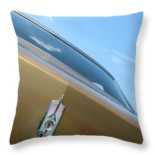 Throw Pillow featuring the photograph 1970 Olds by R A W M