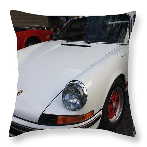 1973 Porsche Throw Pillow featuring the photograph 1973 Porsche by John Telfer
