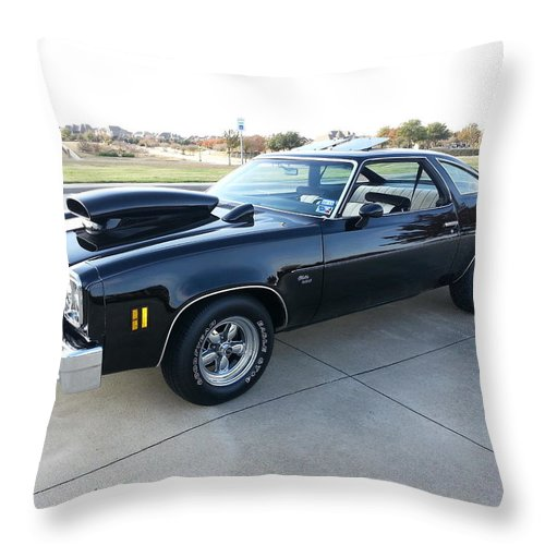 1976 Throw Pillow featuring the photograph 1976 Chevy Malibu Modified Muscle Car by Big E tv Photography