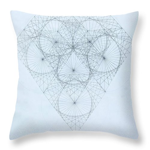 Jason Padgett Throw Pillow featuring the drawing Diamond Quanta by Jason Padgett