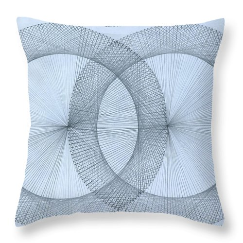 Magnet Throw Pillow featuring the drawing  Magnetism by Jason Padgett