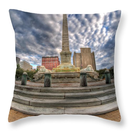 Queen City Throw Pillow featuring the photograph 002 Heart Of The Queen by Michael Frank Jr