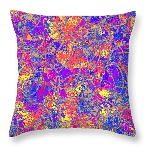 Abstract Throw Pillow featuring the digital art 0147 Abstract Thought by Chowdary V Arikatla