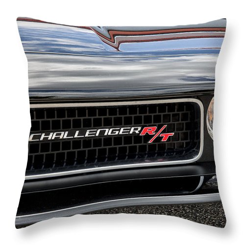 Dodge Throw Pillow featuring the photograph 2011 Dodge Challenger Rt Black by Rich Franco
