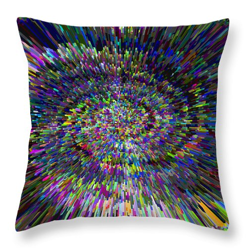 3d Throw Pillow featuring the digital art 3 D Dimensional Art Abstract by David Pyatt