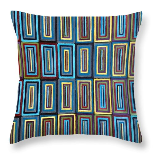 Art Throw Pillow featuring the painting A Contemplation of Identity by RB McGrath