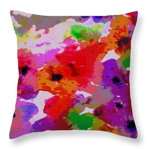 Flowers Throw Pillow featuring the painting A Little Watercolor by Jamie Frier