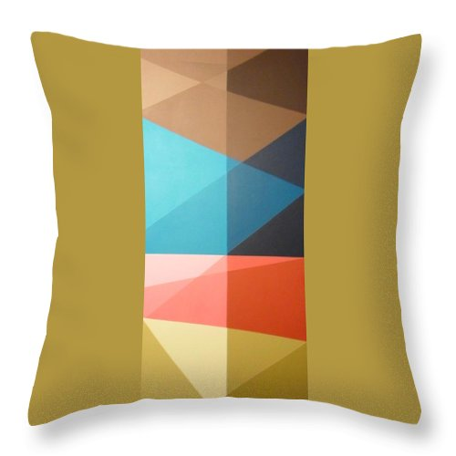 Bright Color Throw Pillow featuring the painting Abstract Transparency by Dilia Camacho