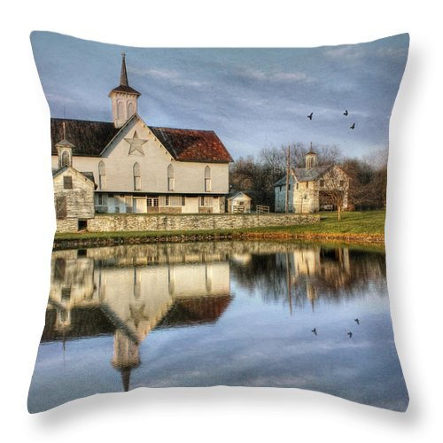 Barn Throw Pillow featuring the photograph Afternoon At The Star Barn by Lori Deiter