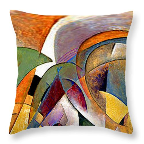 Arches Throw Pillow featuring the mixed media Arches by Rafael Salazar