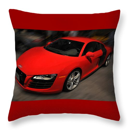 Photo Throw Pillow featuring the photograph Audi R8 by Dragan Kudjerski