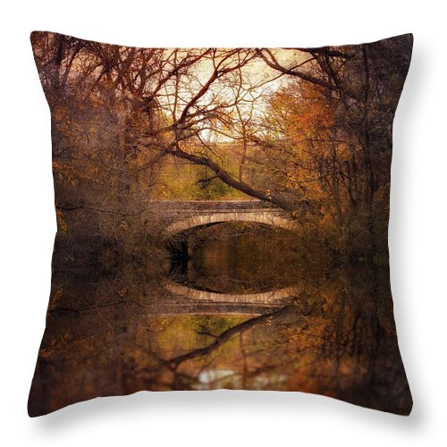 Autumn Throw Pillow featuring the photograph Autumn's End by Jessica Jenney