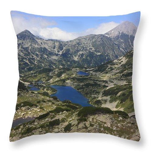 Balkan Peninsula Throw Pillow featuring the photograph Banderishki Lakes Pirin National Park Bulgaria by Ivan Pendjakov