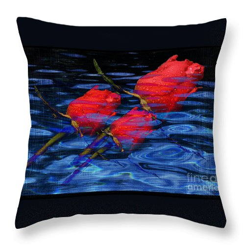 Rose Image Throw Pillow featuring the digital art Be Mine by Yael VanGruber