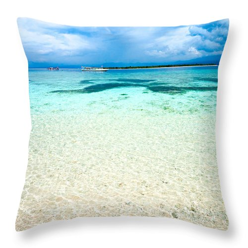 Air Throw Pillow featuring the photograph Beautiful Sea At Gili Meno - Indonesia by Luciano Mortula