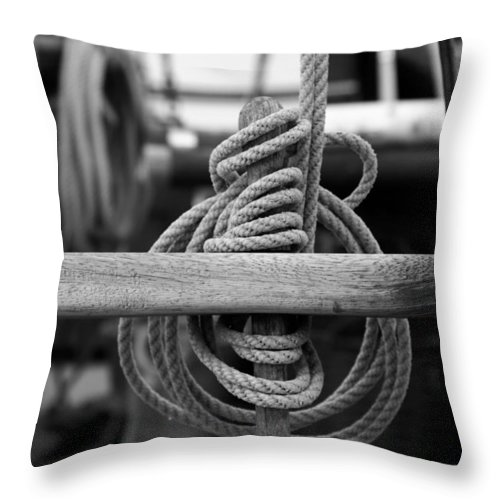 Belaying Pin Throw Pillow featuring the photograph Belaying Pin by Ulrich Kunst And Bettina Scheidulin