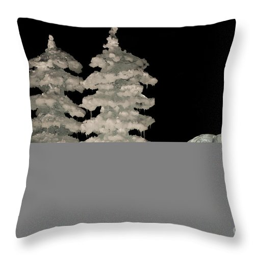 Alaska Throw Pillow featuring the photograph Bp World Ice Art Championships Ice by John Shaw