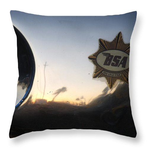 David S Reynolds Throw Pillow featuring the photograph BSA by David S Reynolds