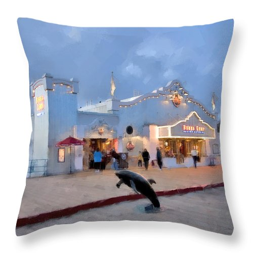 Bubba Gump Shrimp Co Throw Pillow for Sale by Chuck Staley