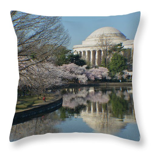 Cherry Blossoms Throw Pillow featuring the photograph Cherry Blossoms by Luv Photography